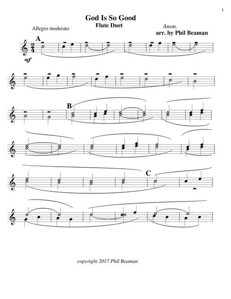 God Is So Good - flute duet