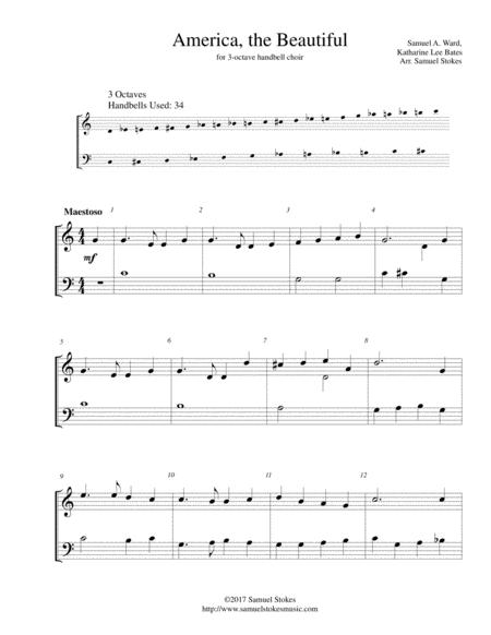 America, the Beautiful - for 3-octave handbell choir