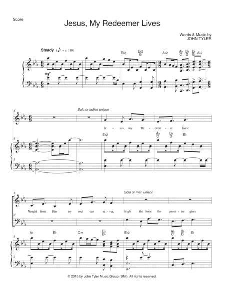 Download Jesus My Redeemer Lives Sheet Music By John Tyler Sheet