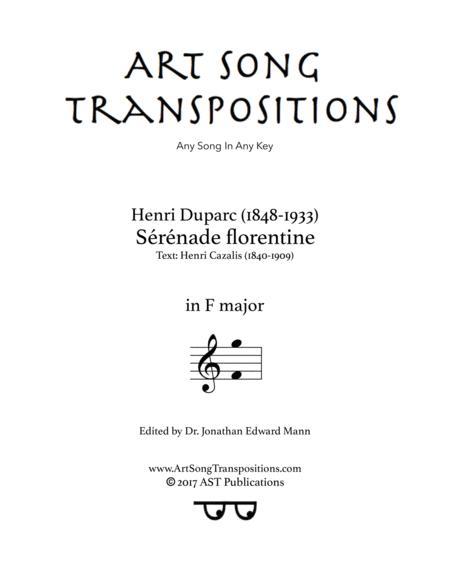 Sérénade florentine (F major)