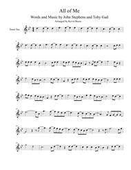 Download All Of Me - Tenor Sax Sheet Music By John Legend - Sheet