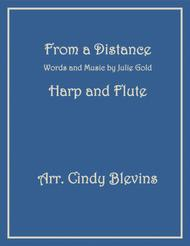 From A Distance, arranged for Harp and Flute