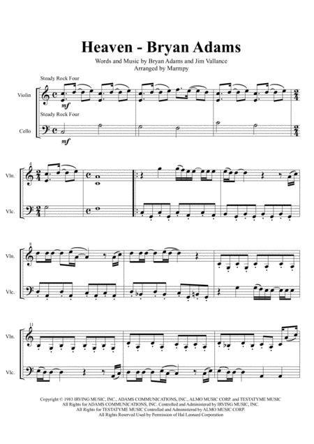 Heaven - Bryan Adams (arranged for String Duet)