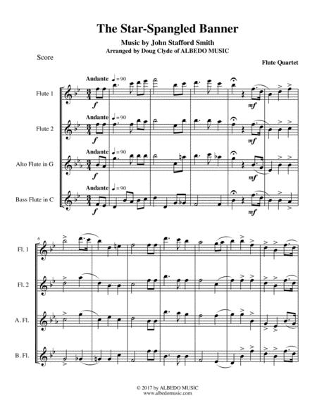 The Star-Spangled Banner for Flute Quartet