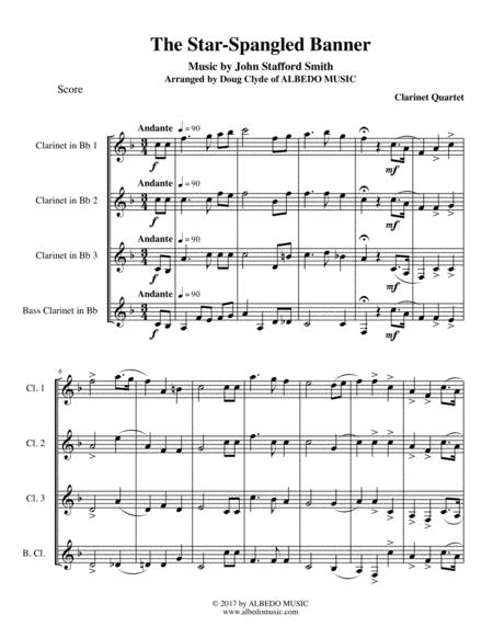 The Star-Spangled Banner for Clarinet Quartet