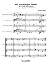 The Star-Spangled Banner for Saxophone Quartet