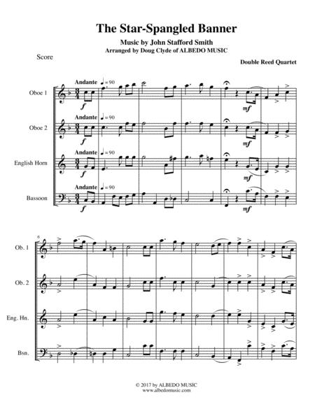 The Star-Spangled Banner for Double Reed Quartet