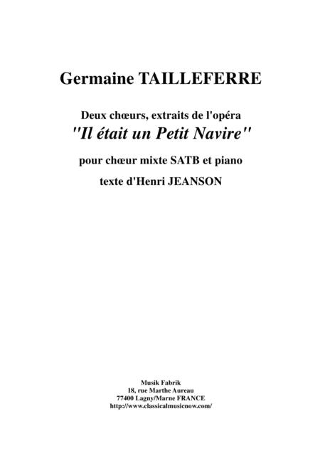 Germaine Tailleferre:  Two Choruses from