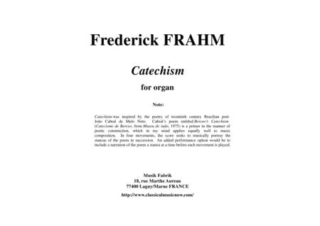 Frederick  Frahm: Catechism for organ