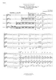 Twinkle, Twinkle Little Star (Violin Quartet)