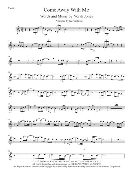 Come Away With Me - Violin