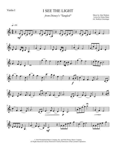 I See The Light - String Quartet or Quintet