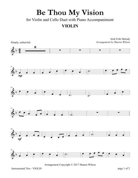 Be Thou My Vision (Violin and Cello Duet with Piano Accompaniment)