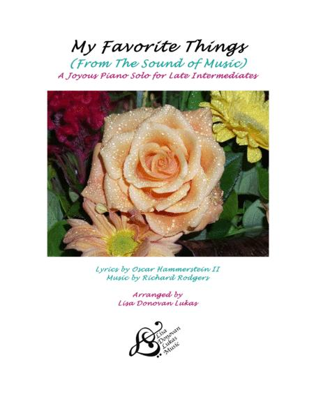 My Favorite Things  (from The Sound of Music) - for Late Intermediate Piano