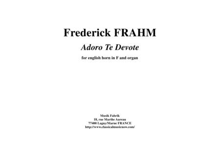 Frederick Frahm:  Adoro Te Devote for english horn in F and organ