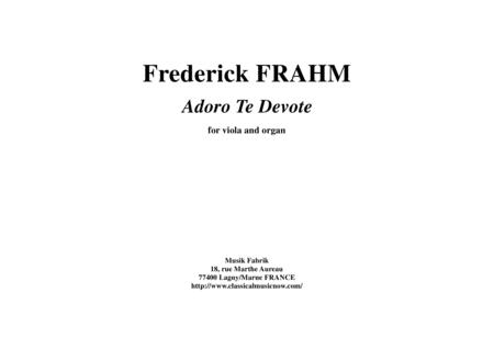 Frederick Frahm:  Adoro Te Devote for viola and organ