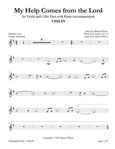 My Help Comes from the Lord (Violin and Cello Duet with Piano Accompaniment)