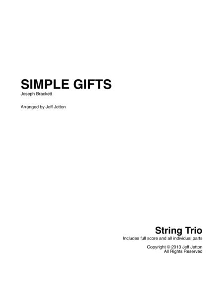 Simple Gifts for String Trio