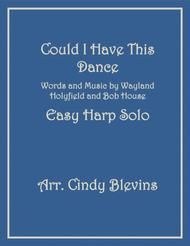 Could I Have This Dance, arranged for Easy Harp