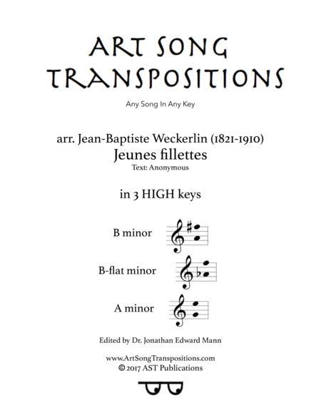Jeunes fillettes (in 3 high keys: B, B-flat, A minor)