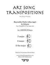 À Chloris (in 3 medium keys: F, E, E-flat major)