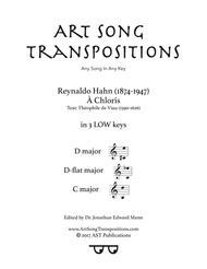 À Chloris (in 3 low keys: D, D-flat, C major)