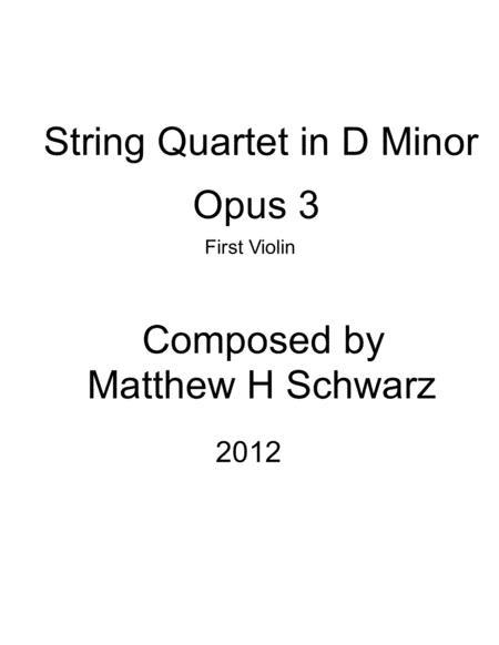 String Quartet 1 in D Minor - First Violin