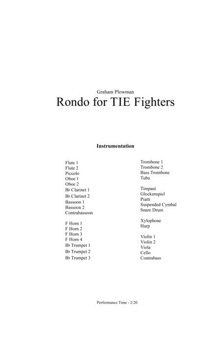 Rondo for TIE Fighters