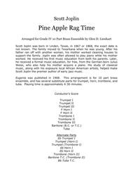 Pine Apple Ragtime (Brass)
