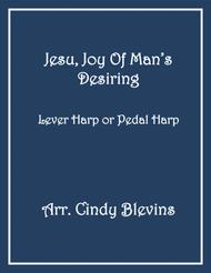 Jesu, Joy of Man's Desiring, arranged for Lever or Pedal Harp, from my book