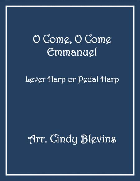 O Come, O Come Emmanuel, arranged for Lever or Pedal Harp, from my book