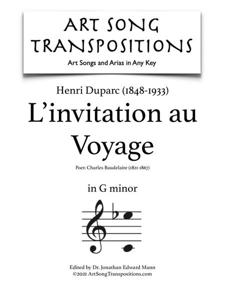 L'invitation au Voyage (G minor)