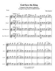 God Save the King for Flute Quartet