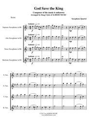 God Save the King for Saxophone Quartet