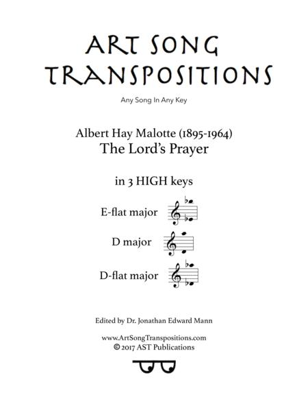Download The Lord's Prayer (in 3 High Keys: E-flat, D, D