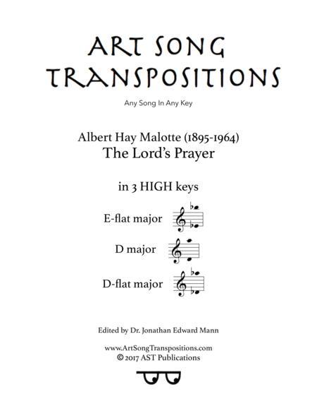 The Lord's Prayer (in 3 high keys: E-flat, D, D-flat major)