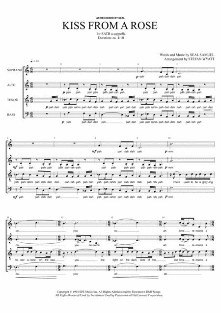Kiss From A Rose - SATB a cappella
