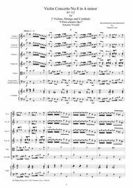 Vivaldi - Violin Concerto No.8 in A minor RV 522 Op.3 for Two Violins, Strings and Cembalo