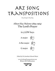 The Lord's Prayer (in 3 low keys: A, A-flat, G major)