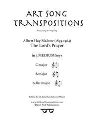 The Lord's Prayer (in 3 medium keys: C, B, B-flat major)