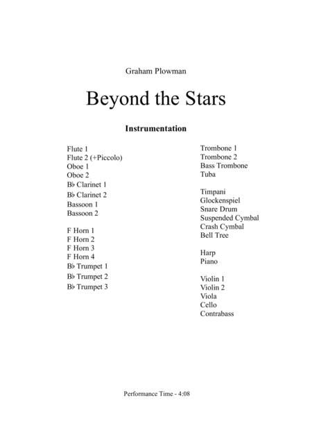 Beyond the Stars Full Score and Parts
