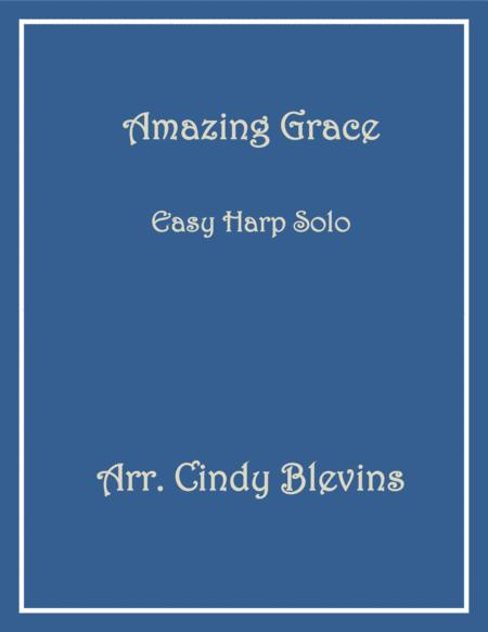 Amazing Grace, arranged for Easy Harp (Lap Harp Friendly), from my book