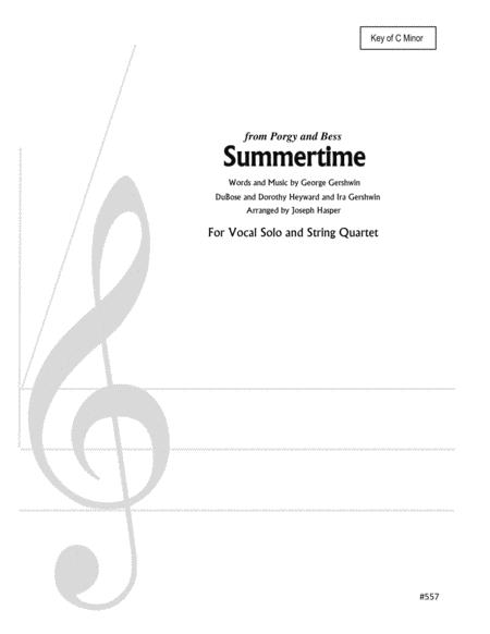 Summertime (Low Female Vocal Solo and Strings)
