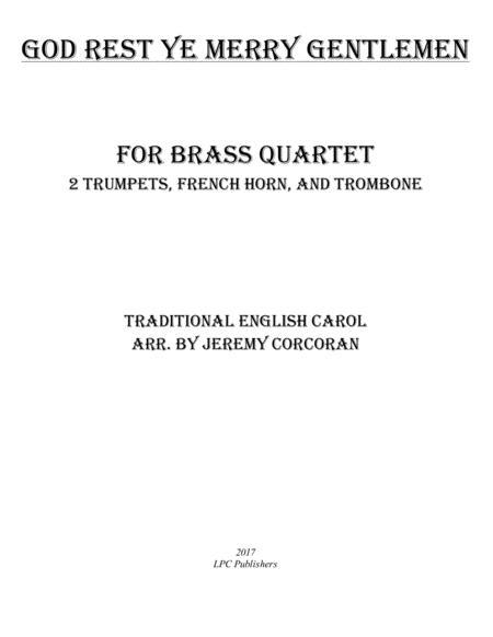 God Rest Ye Merry Gentlemen for Brass Quartet