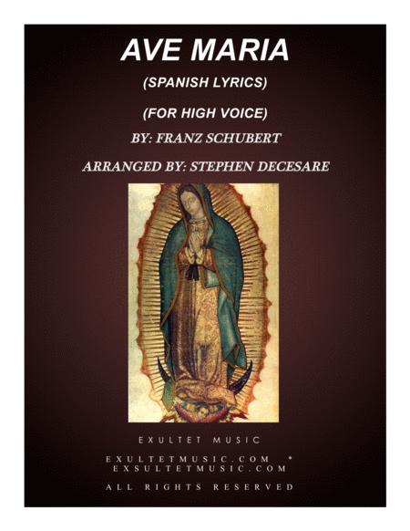 Ave Maria (Spanish Lyrics - High Voice - Piano Accompaniment)