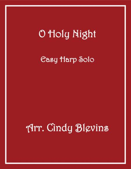 O Holy Night, arranged for Easy Harp, from my book