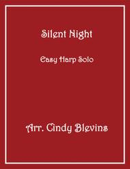 Silent Night, arranged for Easy Harp (Lap Harp Friendly), from my book