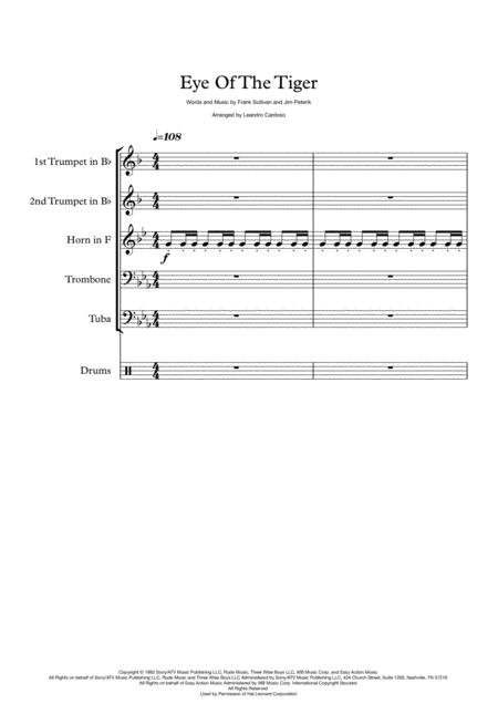 Eye Of The Tiger - Brass Quintet