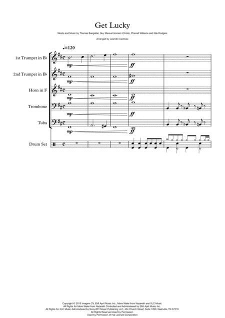 Get Lucky - Brass Quintet