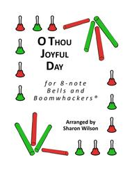 O Thou Joyful Day for 8-note Bells and Boomwhackers® (with Black and White Notes)
